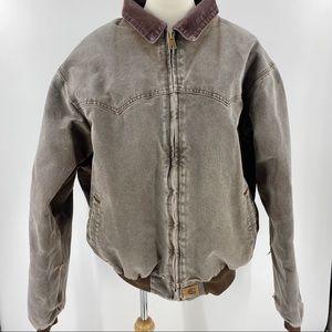 Carhartt vintage men's workwear jacket brown